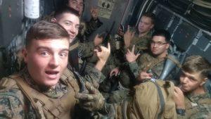 Benjamin Bush and members of his Marine Corps unit
