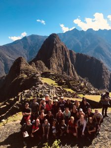 WSU nursing and pharmacy students pose for a photo at Machu Picchu
