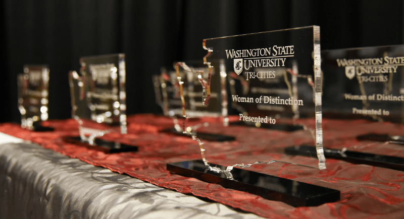 WSU Tri-Cities Women of Distinction award plaques
