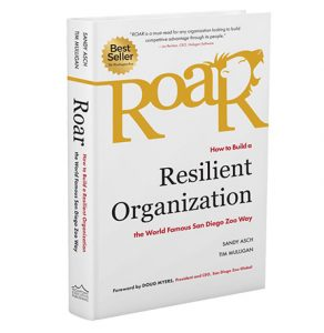 "Book cover for ""Roar: How to Build a Resilient Organization the World Famous San Diego Zoo Way"""