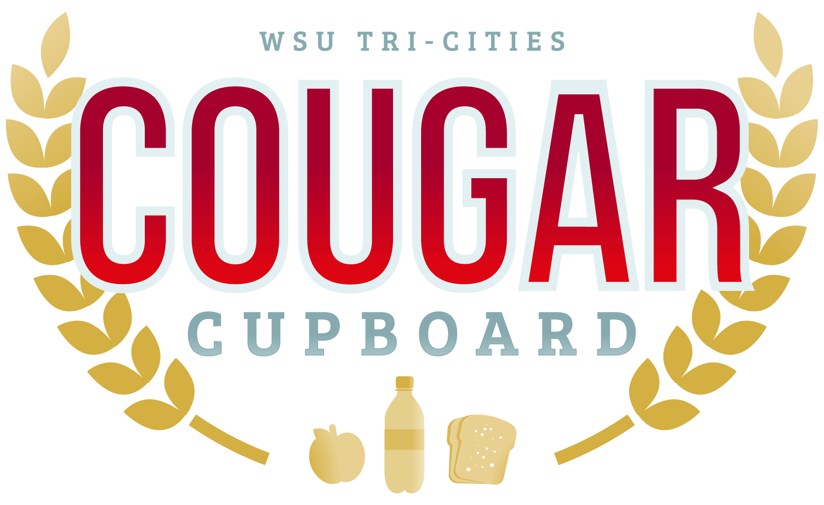 food bank logo, cougar cupboard logo