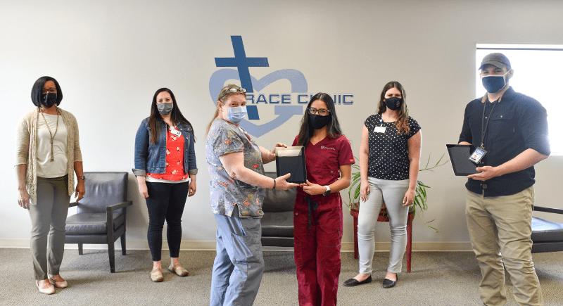 Members of WSU Tri-Cities, Grace Clinic, Kadlec and Tri-City Union Gospel Mission