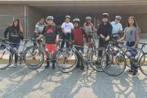 Bicycle safety program at Ochoa Middle School